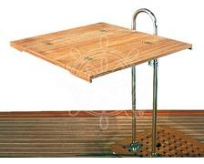 OSCULATI Plateau teck pliable pour table 90 x 35/70cm