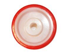 Roue polyamide bandage PU rouge Ø 80, AL Ø 12, 120 kg