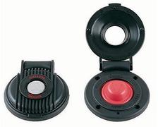 QUICK Contacteur à pied descente (bouton gris et capot noir)