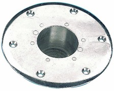 Embase encastrable pour pied de table - aluminium