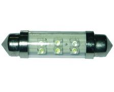 Ampoule navette 10 x 38mm 12V - 6 leds les 2