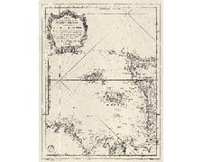 SHOM 0070-WN Carte ancienne des Isles de Jersey Grenesey et