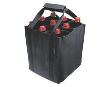 Sac porte 9 bouteilles noir
