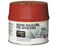 SOROMAP Resine polyester pré-accelerée 375g + catalyseur