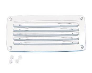 nuova rade grille aeration plastique rectangulaire blanche 206 x 106 grille d 39 a ration. Black Bedroom Furniture Sets. Home Design Ideas