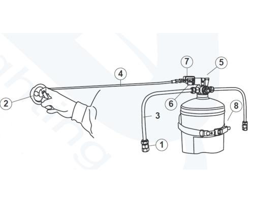 ANAF Extincteur fixe à commande à distance 1kg à gaz HFC227