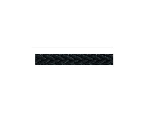 LIROS Amarre tresse creuse Moorex noire 18mm