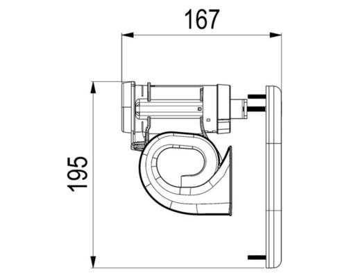 MARCO Avertisseur électrique 12V encastrable avec grille bla