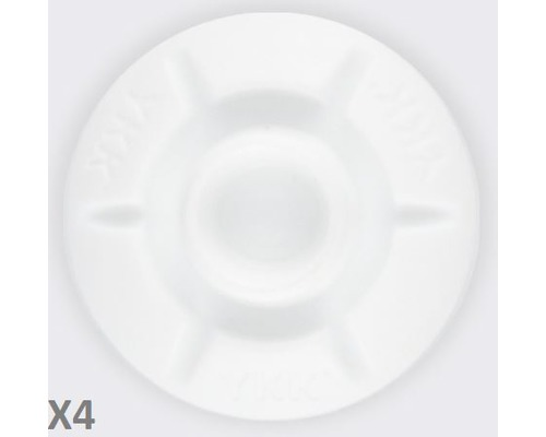 YKK SNAD dôme mâle blanc Ø25 les 4