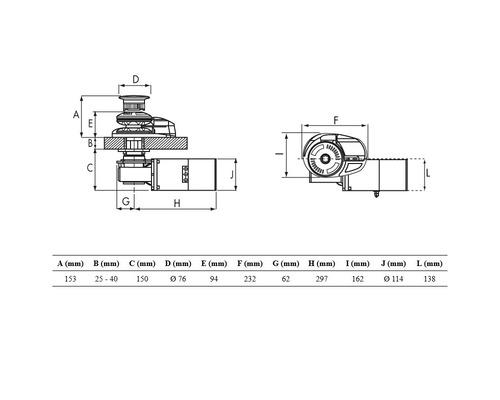 LOFRANS Project 1000W 12V barb. Ø10mm (ISO4565) et poupée