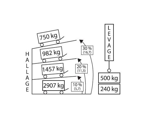 GOLIATH Treuil auto freiné 750 kg