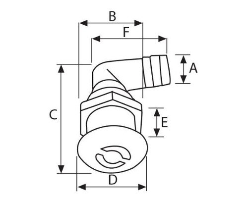 NUOVA RADE Event plastique ovale coudé Ø16 mm
