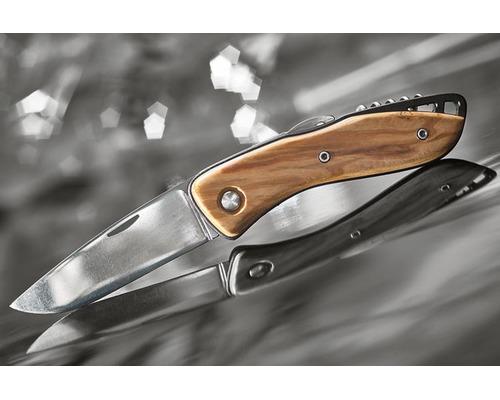 WICHARD Couteau aquaterra bois lame lisse avec tire bouchon
