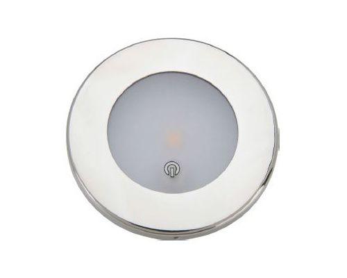 MANTAGUA Spot étanche LED Tudy inox 10W avec interrupteur