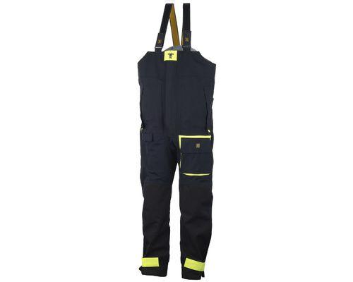 COTTEN Pantalon BEAUFORT noir/jaune fluo XXL