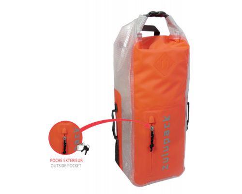 ZULUPACK Sac à dos étanche orange 25L