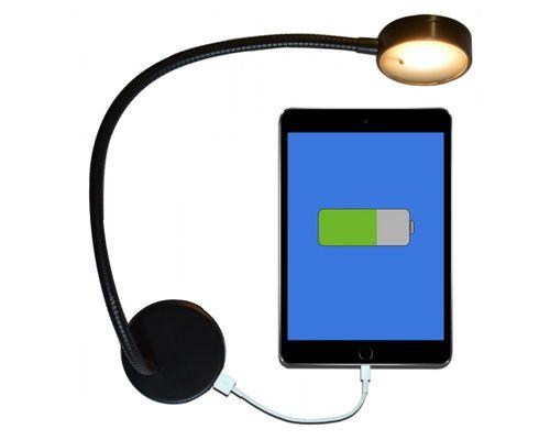 MANTAGUA Liseuse LED avec port USB Blanc/rouge (80/135LM)