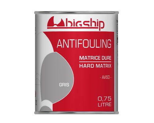 BIGSHIP Antifouling matrice dure Gris 0,75L