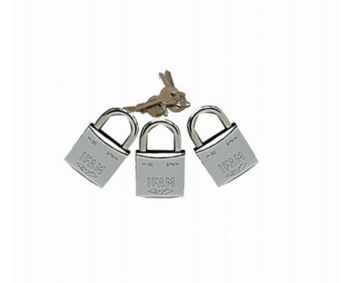 IFAM Cadenas chromés M-30 mêmes clés les 3