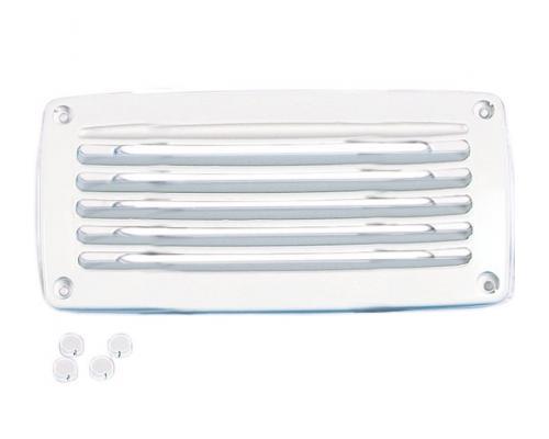 nuova rade grille aeration plastique rectangulaire blanche. Black Bedroom Furniture Sets. Home Design Ideas