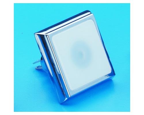 Spot carré 38x38mm 12V laiton chromé