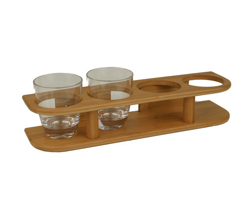 bamboo marine support 4 verres 77mm supports bois bigship accastillage accessoires pour. Black Bedroom Furniture Sets. Home Design Ideas