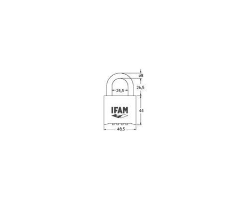 IFAM Cadenas à code PR50 double verrouillage