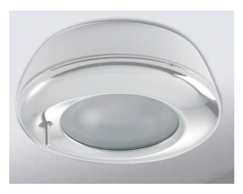 Spot DELPHI avec interrupteur, laiton laqué blanc