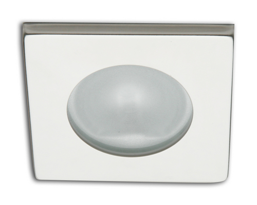 Spot carré RAY à Led lumière blanche froide inox poli
