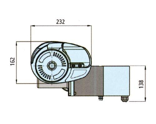 LOFRANS X2 1000W 12V barb. Ø10mm (ISO4565)