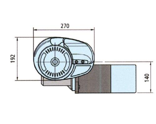 LOFRANS X3 1700W 12V barb. mixte Ø10mm (ISO4565 - cord. 16mm