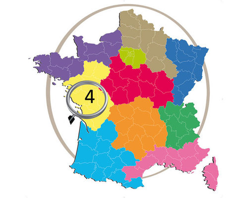 MAGELLAN Carte topo France zone Côte Atlantique