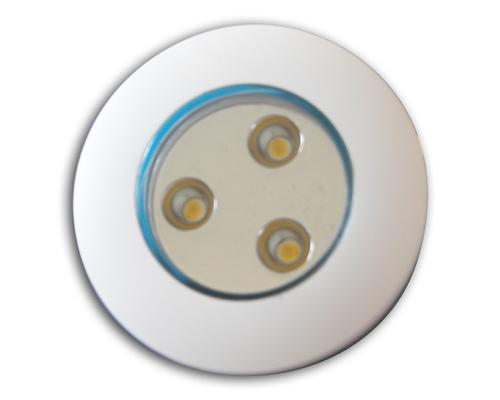 Spot à leds blanches 11,5-30V orientable 40° blanc