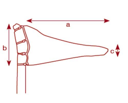 BIGSHIP Housse de grand voile n°7 Long. de bôme 3,85m PVC bl