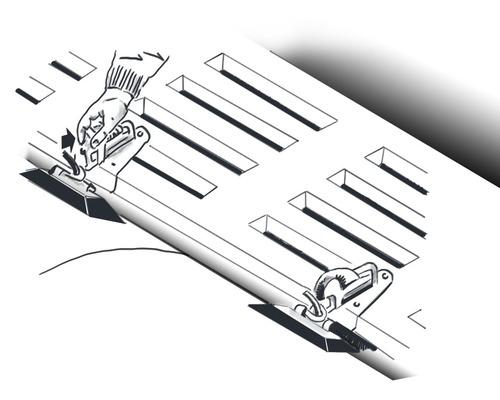 TREM Support pour rangement d'annexe PVC sur plate forme de