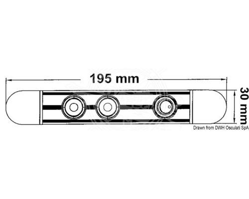 Barre LED orientable 180° 2x1 W