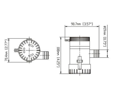 Pompe immergeable 500GPH - 12V