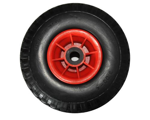 Roue gonflable corps rouge Ø 400 alésage Ø25mm