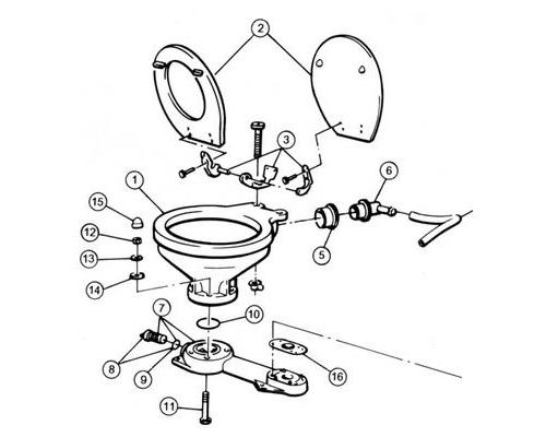 JABSCO Embase complete pour WC manuel
