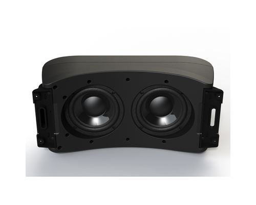 fusion ms ab206 caisson de basse actif 6 39 39 350w 2 canaux 1 enceintes haut parleurs. Black Bedroom Furniture Sets. Home Design Ideas