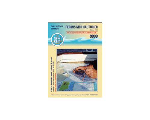 SHOM Carte permis mer hauturier (à plat)