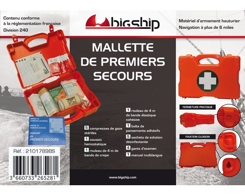 BIGSHIP Mallette premiers secours >6mn